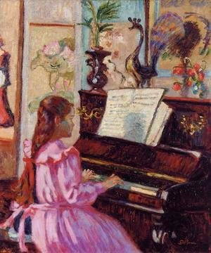 Armand Guillaumin - Young Girl At The Piano