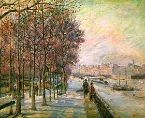 Armand Guillaumin - La Place Valhubert, Paris  1875